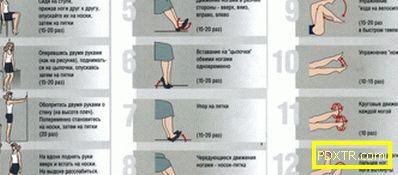 Упражнения за подобряване на кръвообращението в различни