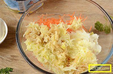 Снек от консервирана риба със зеленчуци и ябълка: бърза