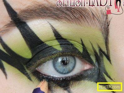 Грим за очите на хелоуин