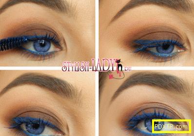 Красив грим кафяви очи - 3 опции