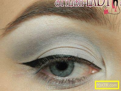 Урок за грим на очите в сиви тонове