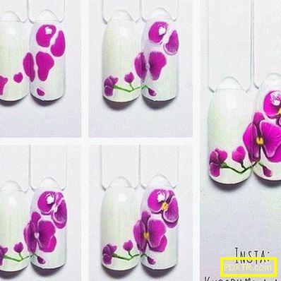 Орхидеи на ноктите - идеи за дизайн + майсторски класове