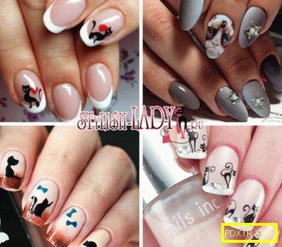 Котки на ноктите - елегантен маникюр за къси и дълги нокти