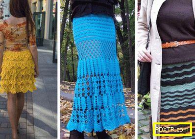 С какво да носите плетена пола с различни дължини и форми?