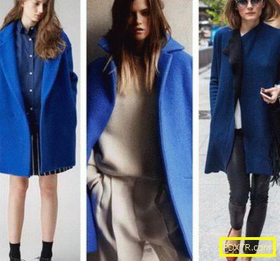 С какво да носим синьо палто от лек пастел до тъмни нюанси?