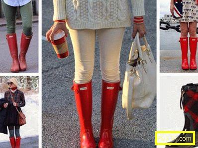 Ярко докосване! с какво да носиш червени ботуши?
