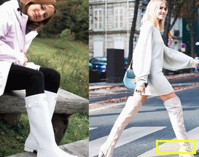 Облечи краката си в бели ботуши! с какво да носите бели