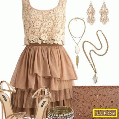 Нисък ключ лукс - с какво да носиш бежова рокля?