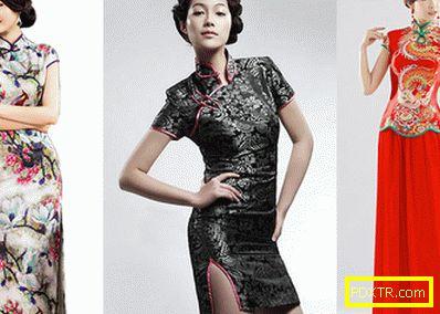 Рокли в китайски стил: разнообразие от цветове и модели
