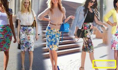 Пола с флорален печат: мечтата на мода