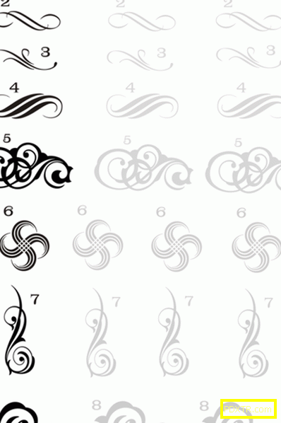 Монограм на ноктите - снимка на маникюр и схеми за рисуване