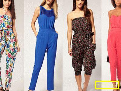 Модни женски летни гащеризони