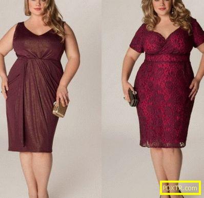Модни вечерни рокли за пълни дами