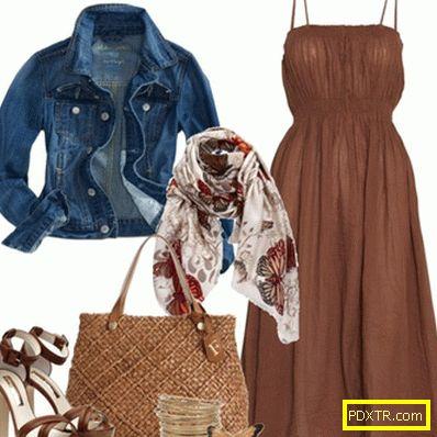 Мода кафява рокля: с какво да нося? избираме обувки и