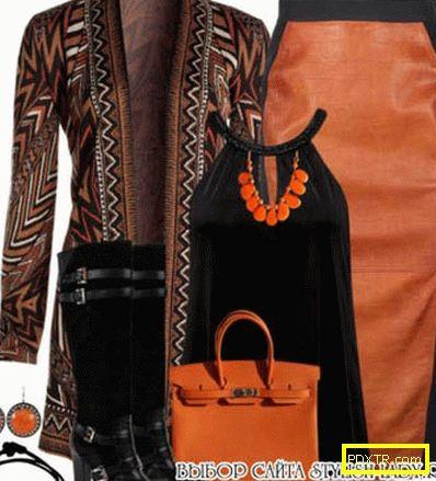 Солиден цвят. с какво да носиш оранжева рокля или пола?