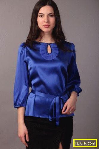 Модни блузи от сатен: модели и стилове