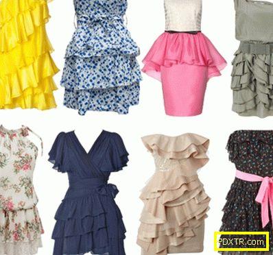 Вълната е шумолене ... модни рокли с flounces