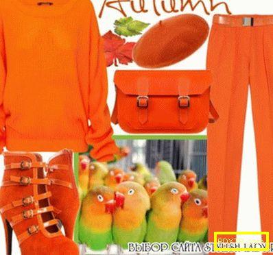 Изкуството се комбинира. с какво да носите портокалови