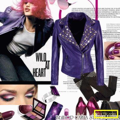 Виолетово палто - модерно, стилно, оригинално!