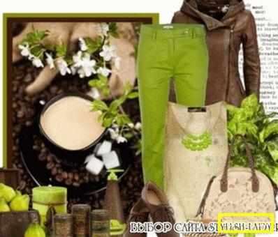 Изкушение в цвят. с какво да носите зелени панталони?