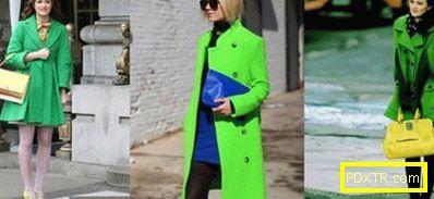 Зелените дрехи в средата на зимата могат да донесат