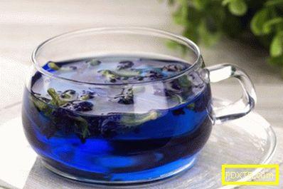 Отслабване със синия чай
