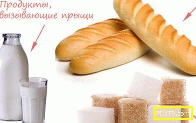 Какви продукти причиняват акне