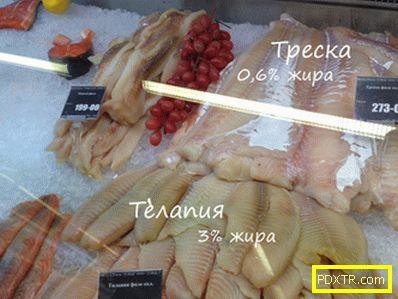 За калоричното съдържание на рибата - какво риба да избере
