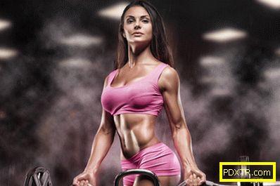 Обучение за набор от мускули в салона и у дома