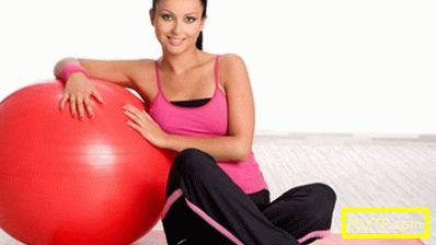 Упражнения по фитнес топката