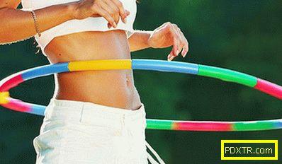 Упражнения с обръч за отслабване корема и страни