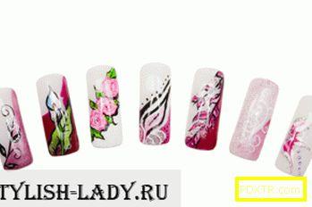 Красив дизайн на изящни нокти
