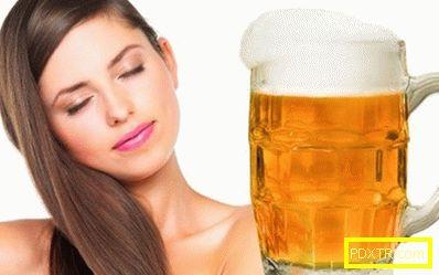 Използване на бира за козметични цели. бира за коса