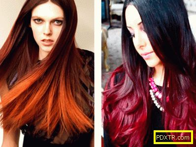 Модерно оцветяване на тъмна и руса коса