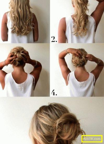 Как да направите греда на средна и дълга коса?