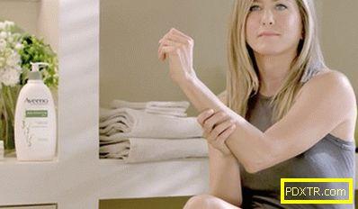 Дженифър анистън в рекламата на естествената козметика